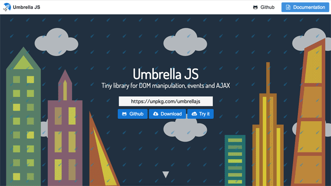 Umbrella JS official site